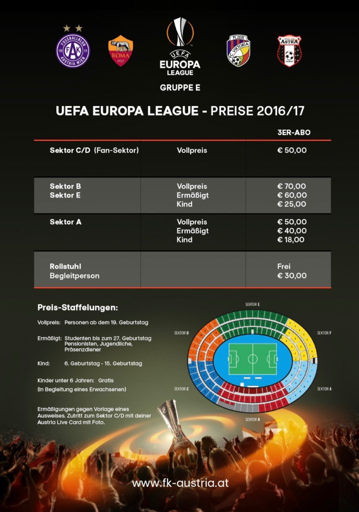 Europa League Dreier-Abo